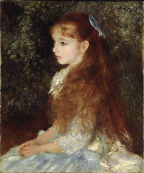 Ritratto di Irene Cahen d'Anvers di Renoir
