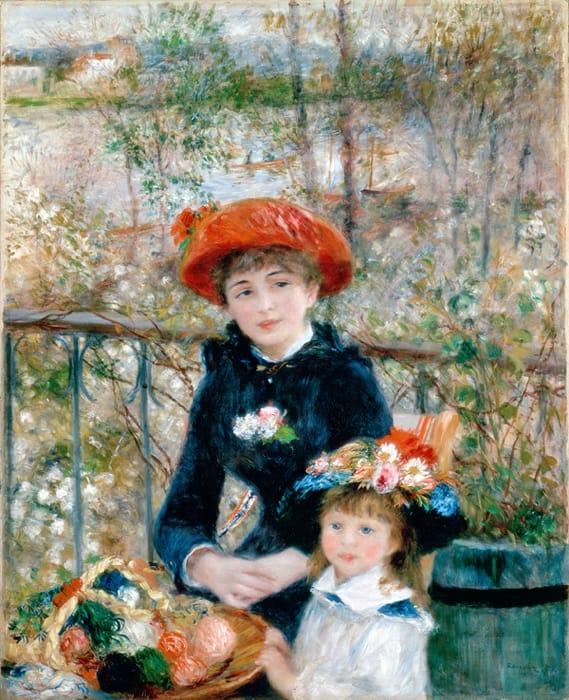 Sulla terrazza di Renoir