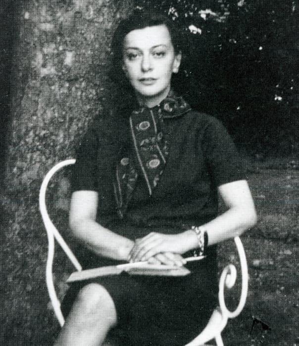 La poetessa Cristina Campo